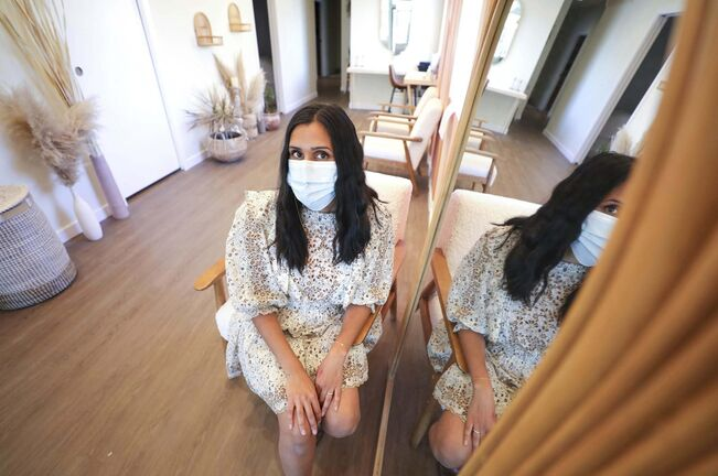 Tina Cable, facialist and owner of Myuz Artistry, cautions that breakouts caused by wearing masks for long periods of time shouldn't be treated as straightforward acne.
