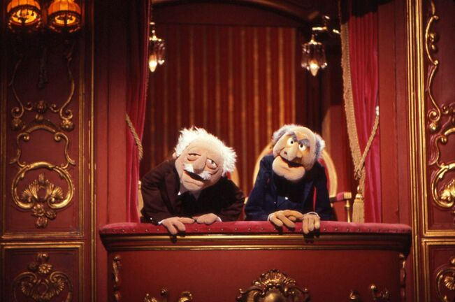Statler & Waldorf in the Balcony Box.