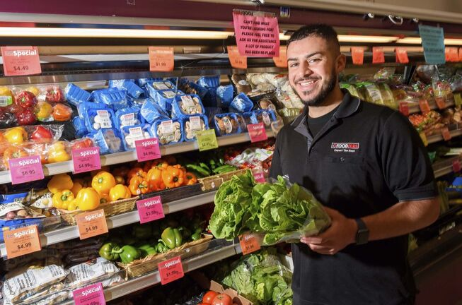 "Tarik started helping out in the stores in Grade 6 and has graduated from shelf-stocker to ""grocery boy"" to produce manager over the last decade."