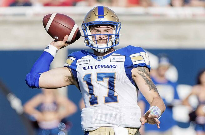 Winnipeg Blue Bombers quarterback Chris Streveler.