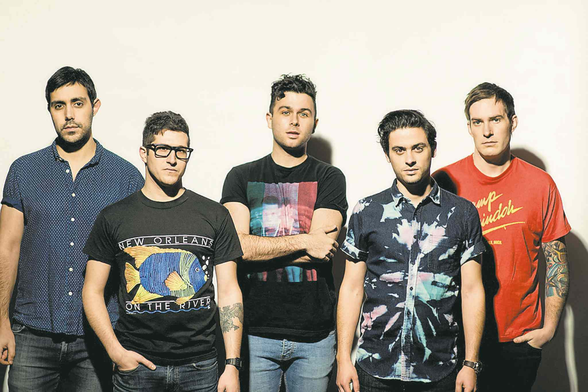Brooks Reynolds / submitted photo; The Canadian Press filesThe Arkells (from left): Nick Dika (bass), Anthony Carone (keyboard), Max Kerman (lead vocals/guitar), Mike DeAngelis (vocals/guitar) and Tim Oxford (drums).