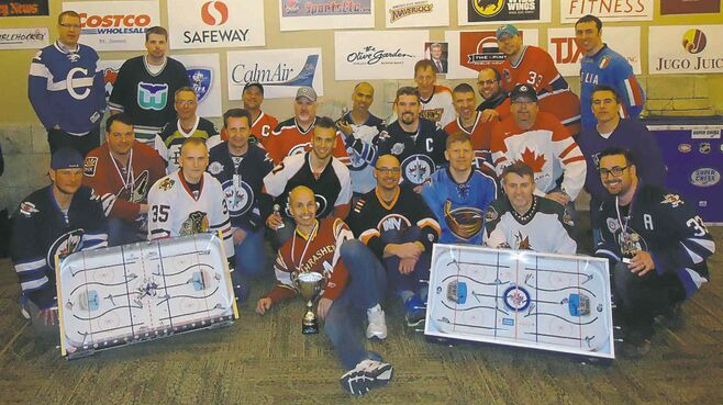 March 22, 2015 - Members of the Winnipeg Table Hockey League took part in the WTHL's fourth annual Challenge Cup at the Club Regent Casino. The WTHL features table hockey enthusiasts from across Winnipeg.