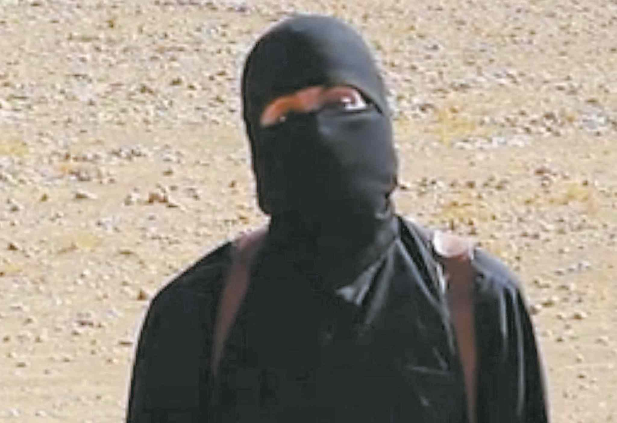 �Jihadi John� in an IS video.