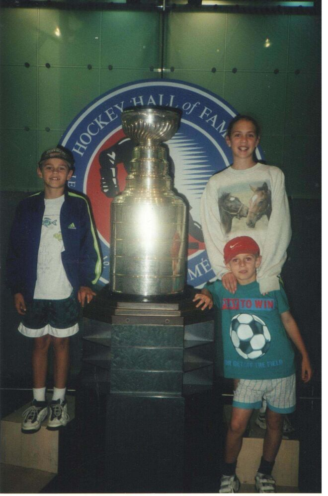 Visiting the Hockey Hall of Fame and the Stanley Cup. - Family photo