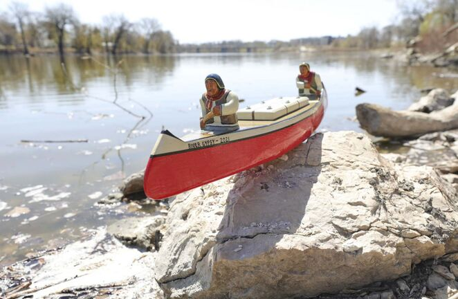 RUTH BONNEVILLE / WINNIPEG FREE PRESS</p><p>As a winter project, a senior built a wooden canoe inspired by a book he read as a boy, he plans to set it adrift in the Red River to see how far it will travel and how many people will connect with the message placed inside the boat during the summer months. The message asks the finder to contact the owner and give details on how they spotted it before re-releasing it into the river.</p>