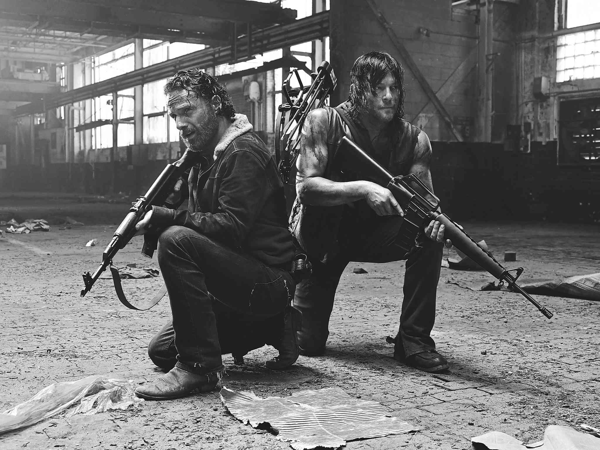 Andrew Lincoln and Norman Reedus of The Walking Dead