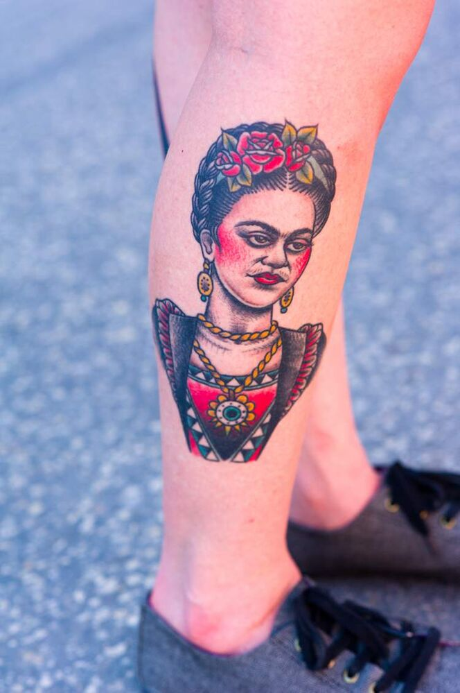 "Mexican painter Frida Kahlo ""I just admire her as an artist."" Total tats: more than 30  (Darren Fast / Winnipeg Free Press)"