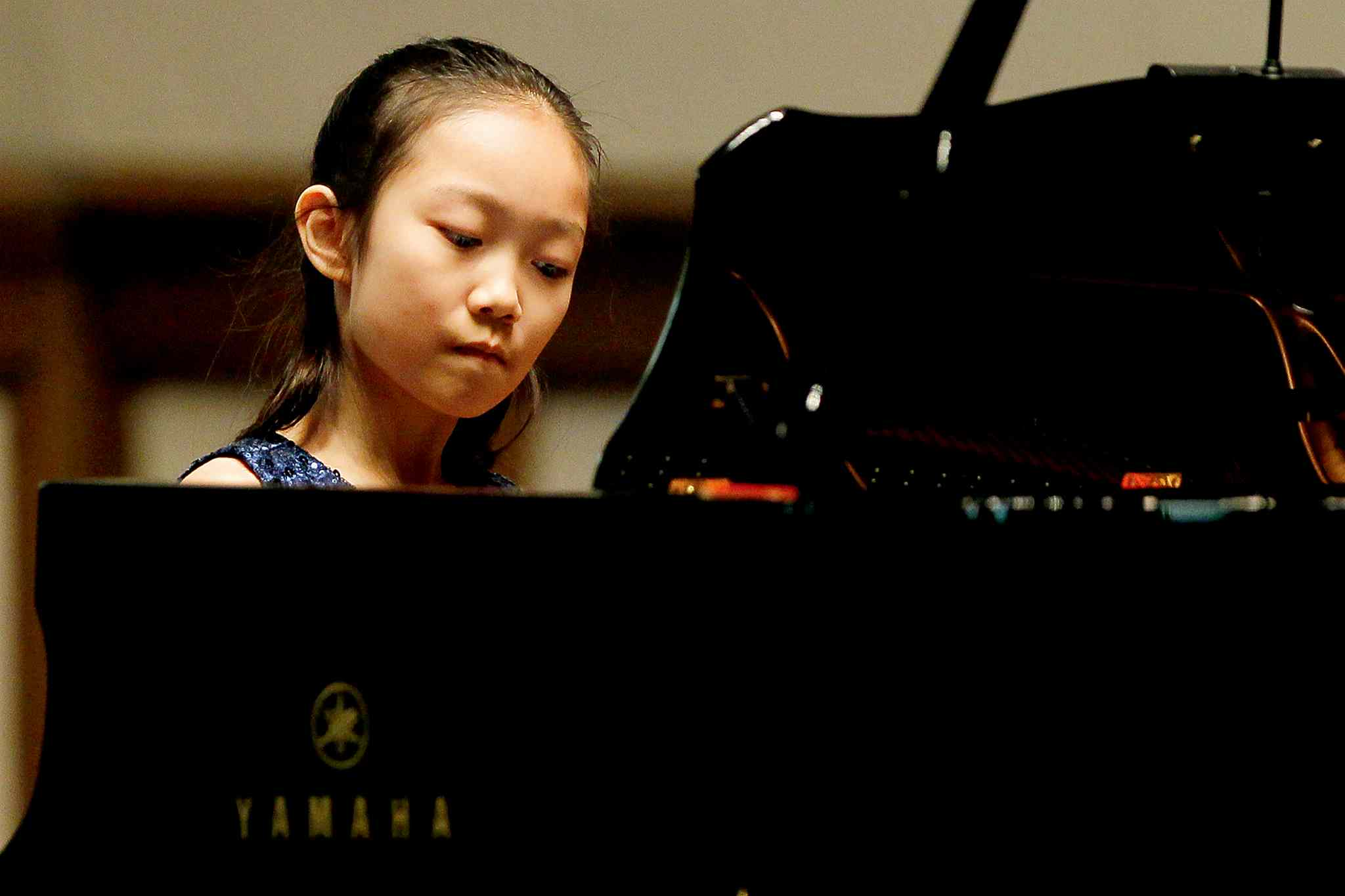 john woods / Winnipeg Free PressCindy Chang concentrates on her piano performance.