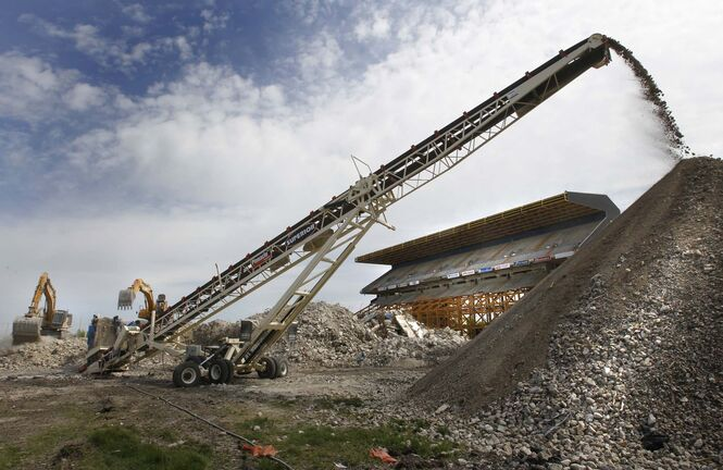 The old football stadium and property was declared surplus in 2010 and later sold to a partnership between Cadillac Fairview and Winnipeg developer Shindico. (Wayne Glowacki / Free Press files)