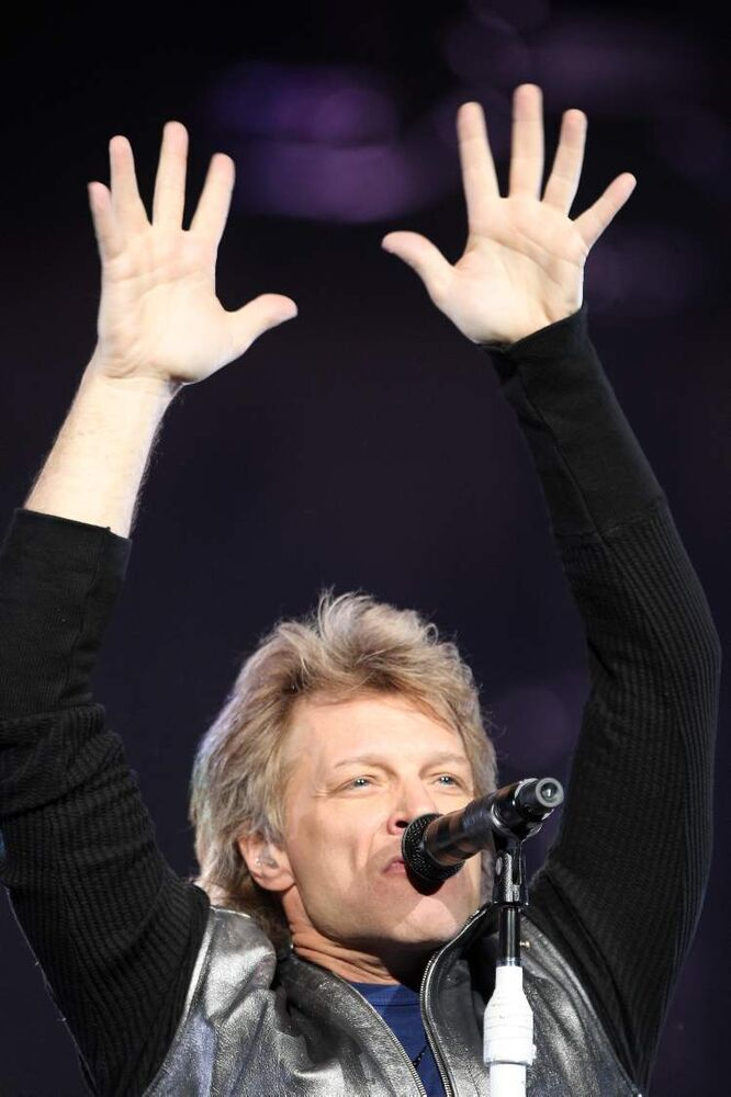 Jon Bon Jovi. (JOE BRYKSA / WINNIPEG FREE PRESS)