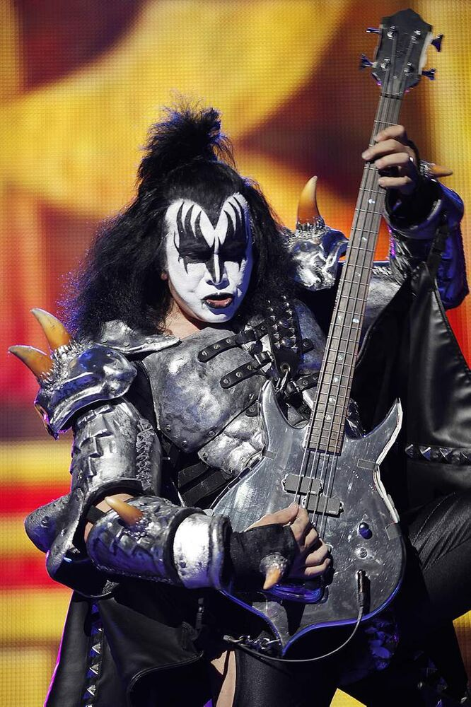 Gene Simmons. Hey, that last guy's makeup was pretty good! (John Woods / Winnipeg Free Press)
