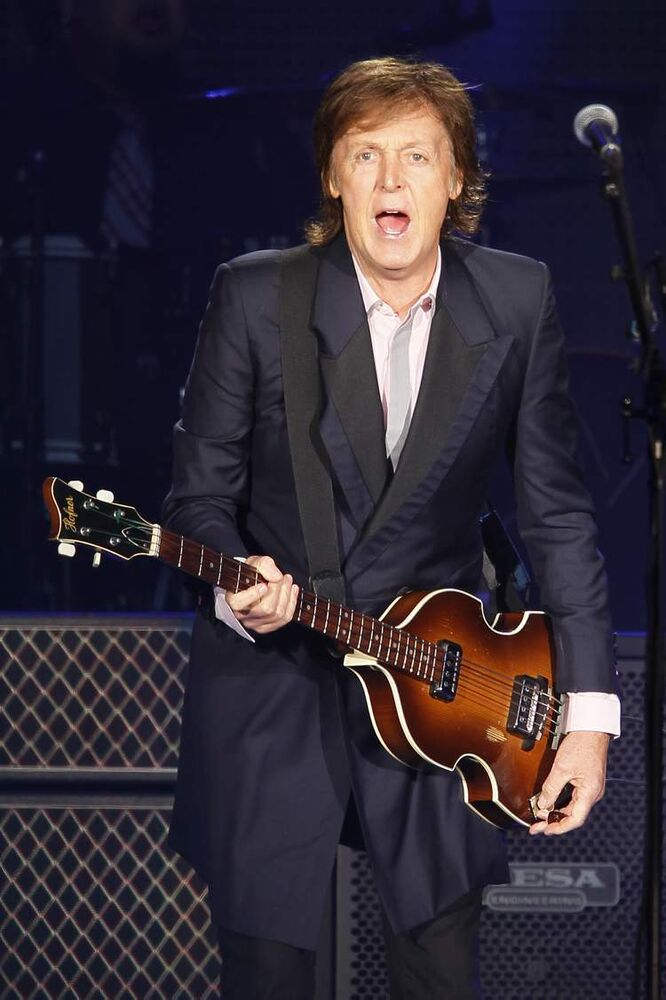 At 71, McCartney had plenty of energy throughout the set. (John Woods / Winnipeg Free Press)