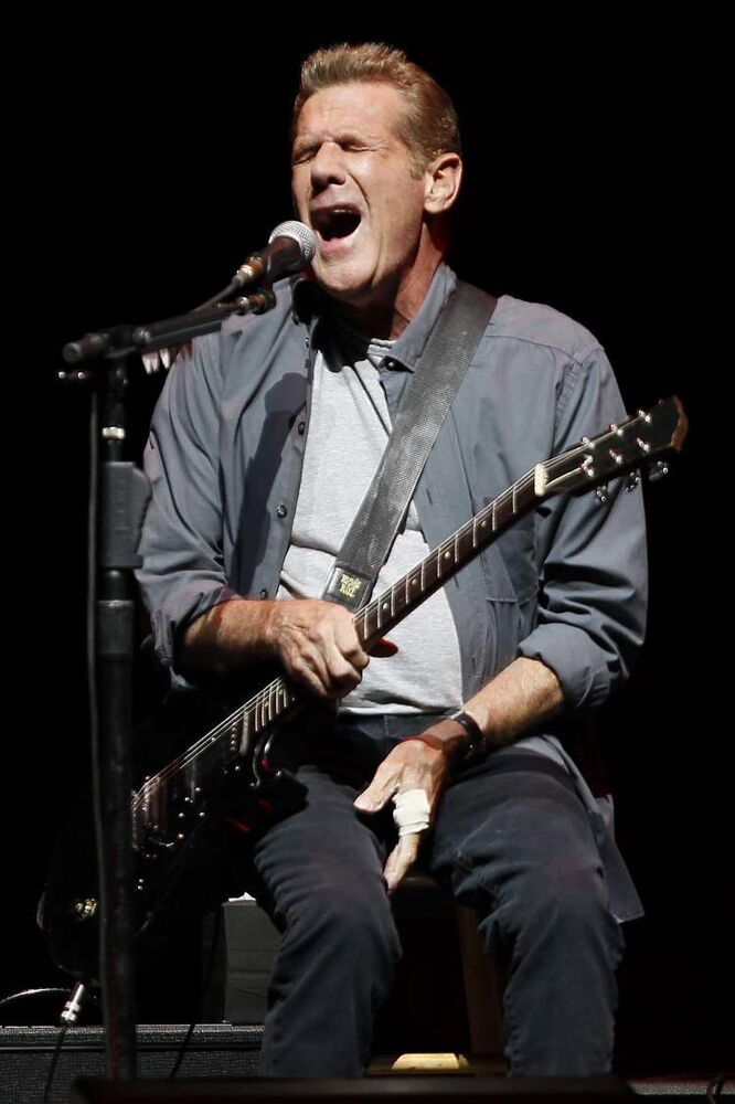 Glenn Frey belts out an Eagles classic. (John Woods / Winnipeg Free Press)