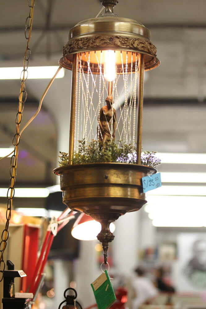 Thirsty's Flea Market at 1111 Ellice Ave. has eclectic vintage goods, including a shower light that uses mineral oil.