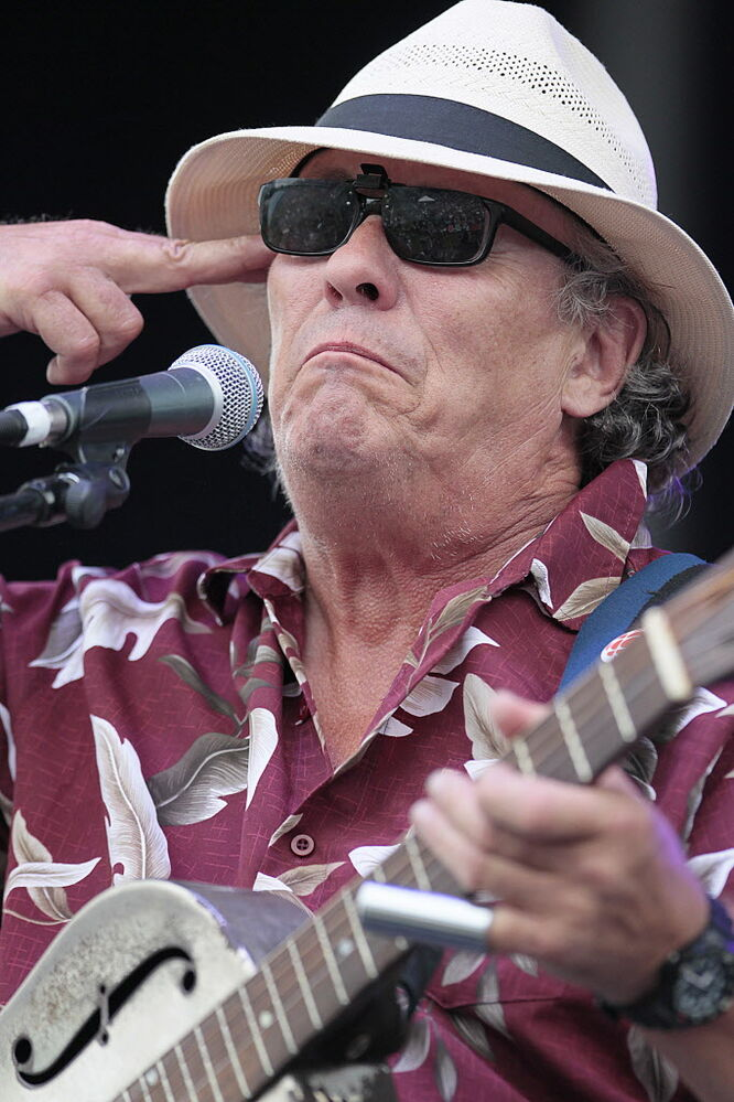 Big Dave McLean performs at the Winnipeg BBQ and Blues Festival Sunday. (John Woods / Winnipeg Free Press)