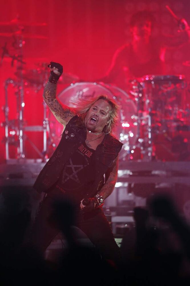 Mötley Crüe performs at the MTS Centre in Winnipeg Tuesday, May 7, 2013.  (John Woods / Winnipeg Free Press)