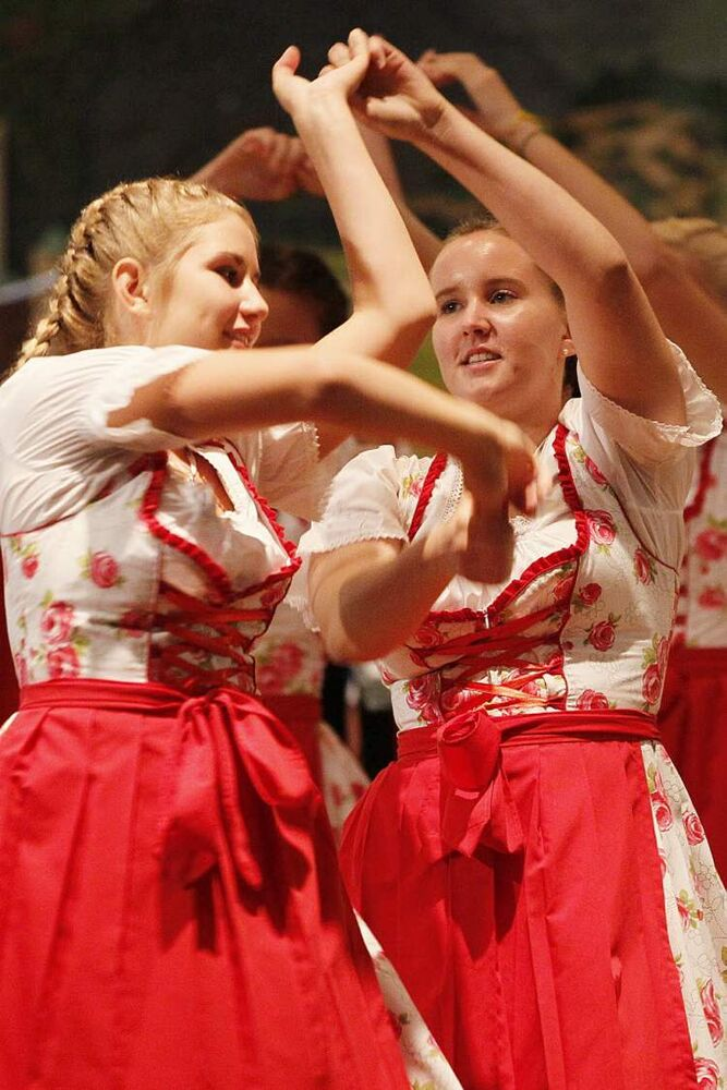 A dancer performs at the German Pavilion during week 2 of Folklorama Sunday, August 12, 2012.