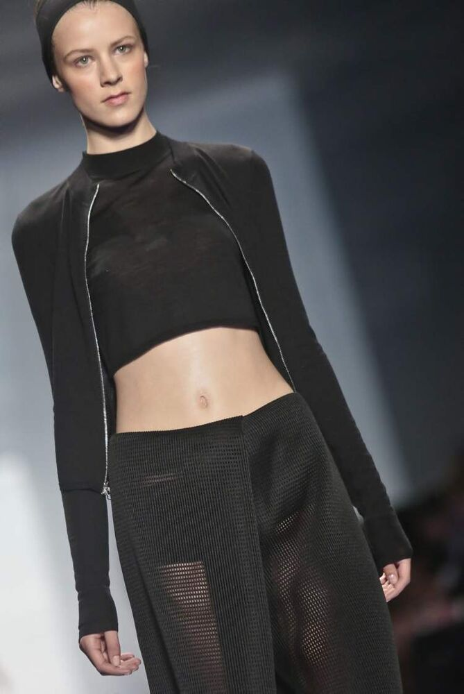 Fashion from the Vera Wang Spring 2014 collection is modelled on Tuesday, Sept. 10 in New York. (AP Photo / Bebeto Matthews)