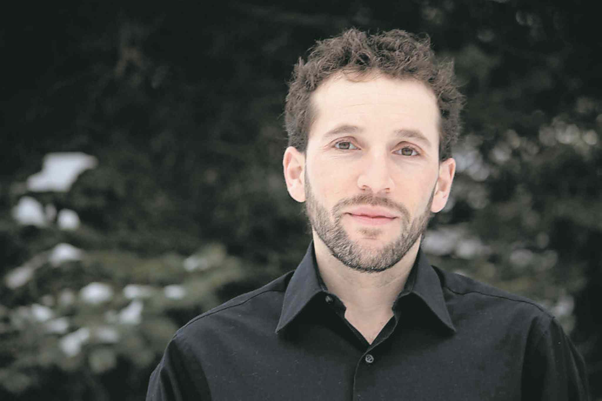 With his family's blessing,  author Dan Rubinstein (above)  set out on a journey to detail  the benefits of walking.