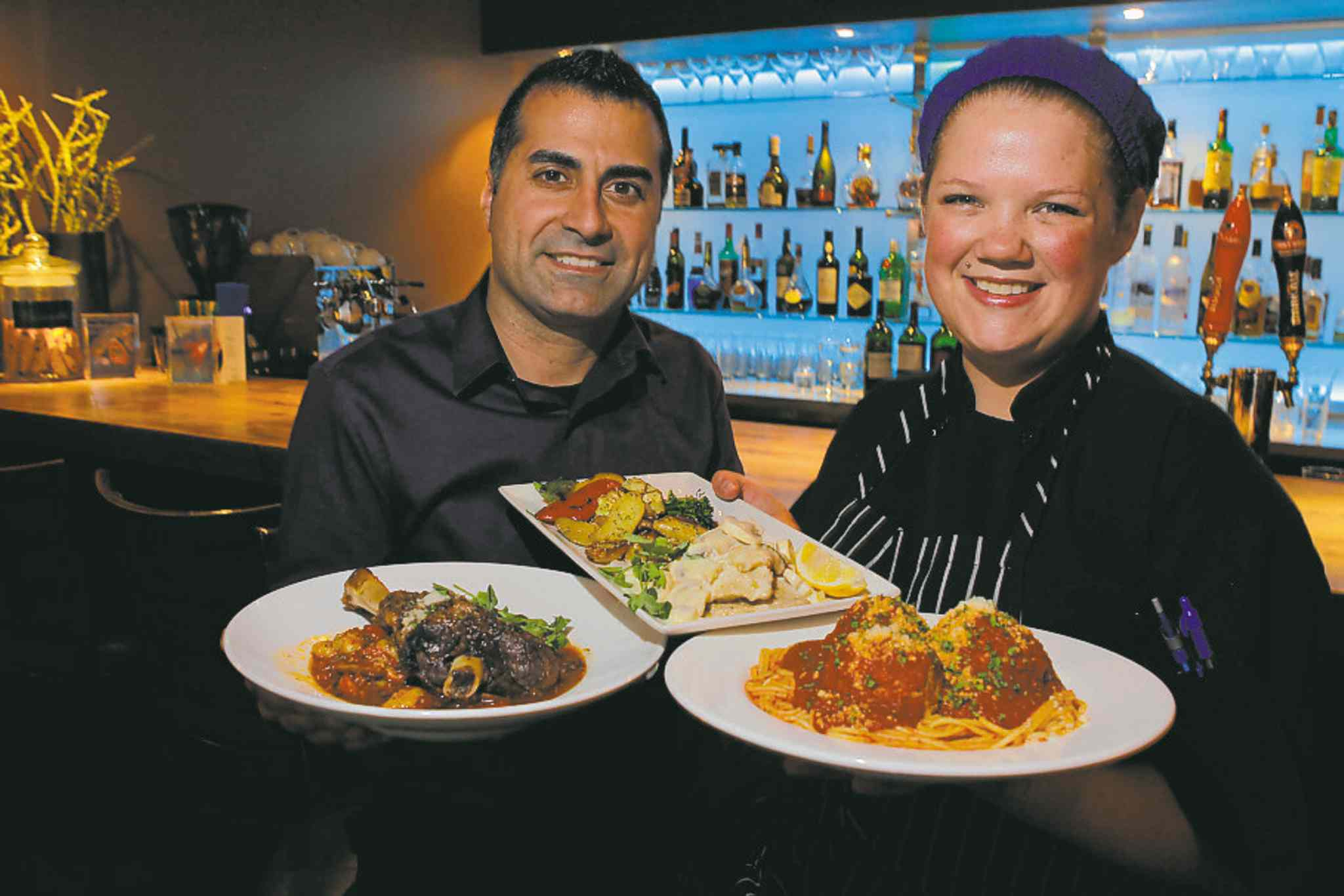 Bellissimo owner  Greg Gagliardi and  chef Jessica Cuthbert.