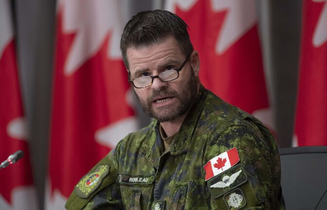 Canadian Joint Operations Commander Lt.-Gen. Mike Rouleau speaks during a news conference on the recent Canadian Forces helicopter crash, Tuesday, May 19, 2020 in Ottawa. THE CANADIAN PRESS/Adrian Wyld