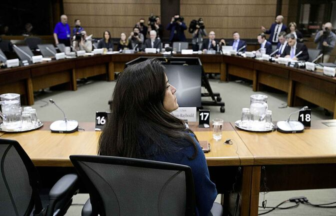 Jody Wilson-Raybould appears at the House of Commons Justice Committee on Wednesday.