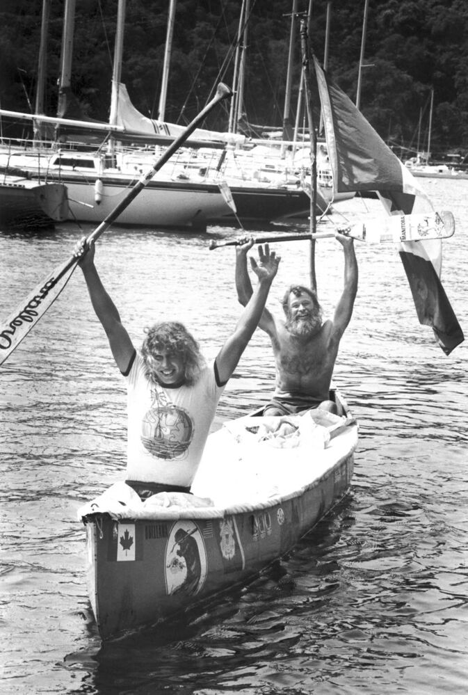 Dana, left and Don Starkell celebrate their arrival in Trinidad. 1981 (Supplied photo)