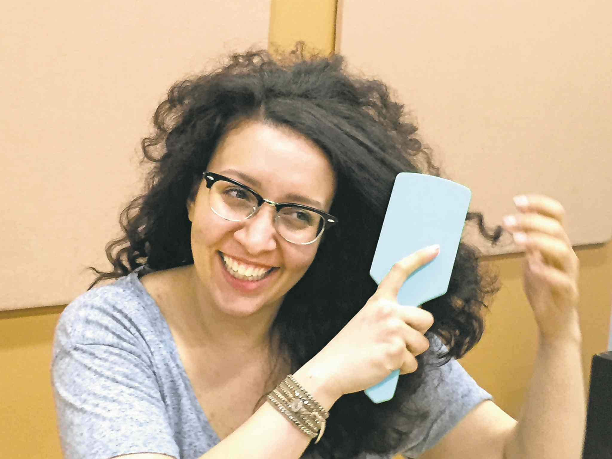 Brush with greatness: Connie Manfredi's curly locks aren't all bad.