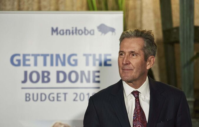 David Lipnowski / The Canadian Press</p><p>Manitoba Premier Brian Pallister </p>