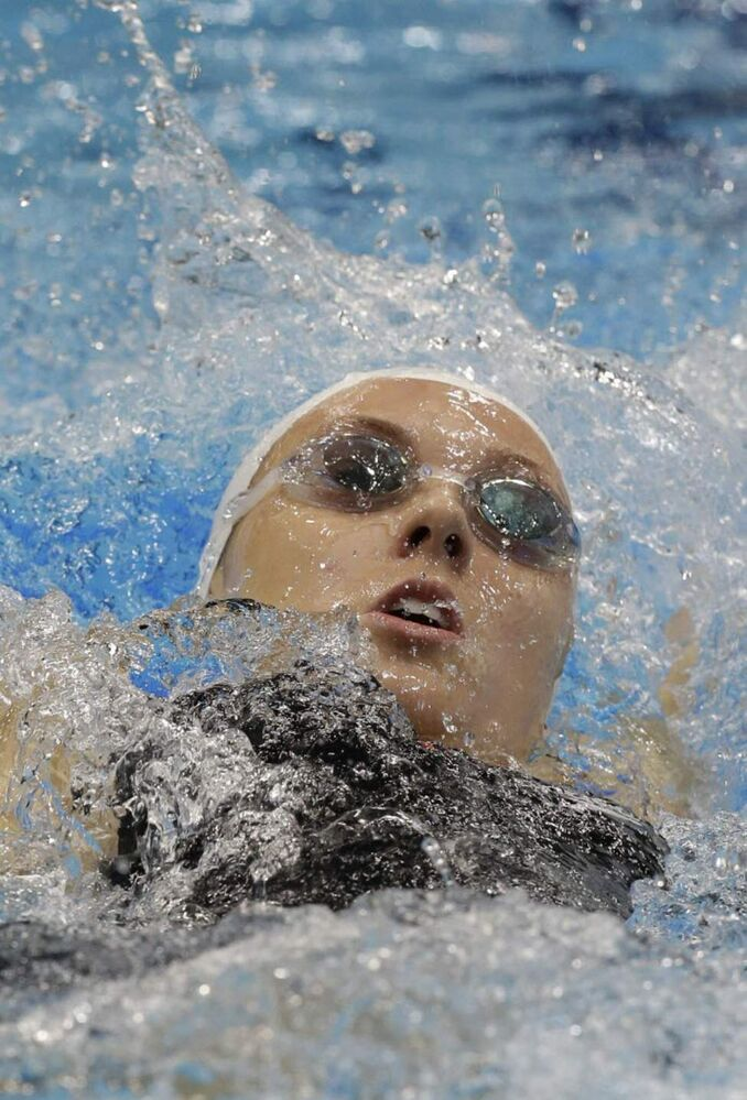 Canada's Summer Ashley Mortimer competes at a women's 100 breaststroke S10 heat at the 2012 Paralympics, in London. (AP Photo/Lefteris Pitarakis)