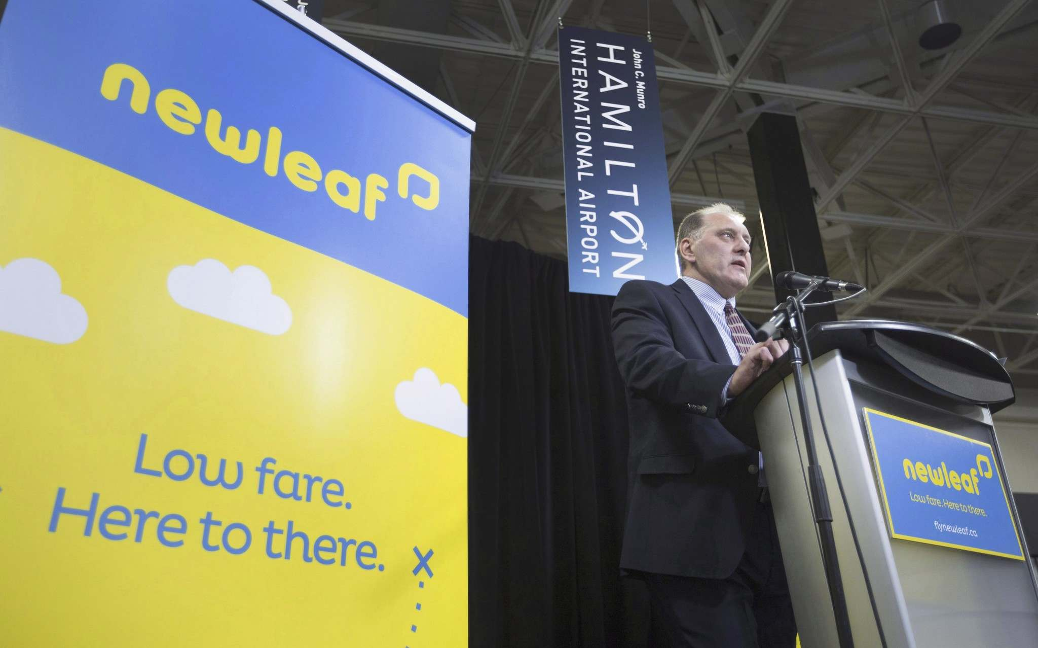 PETER POWER / THE CANADIAN PRESS FILES </p><p>Dean Dacko, Chief Commercial Officer of NewLeaf Travel, speaks at a news conference earlier this year. </p>