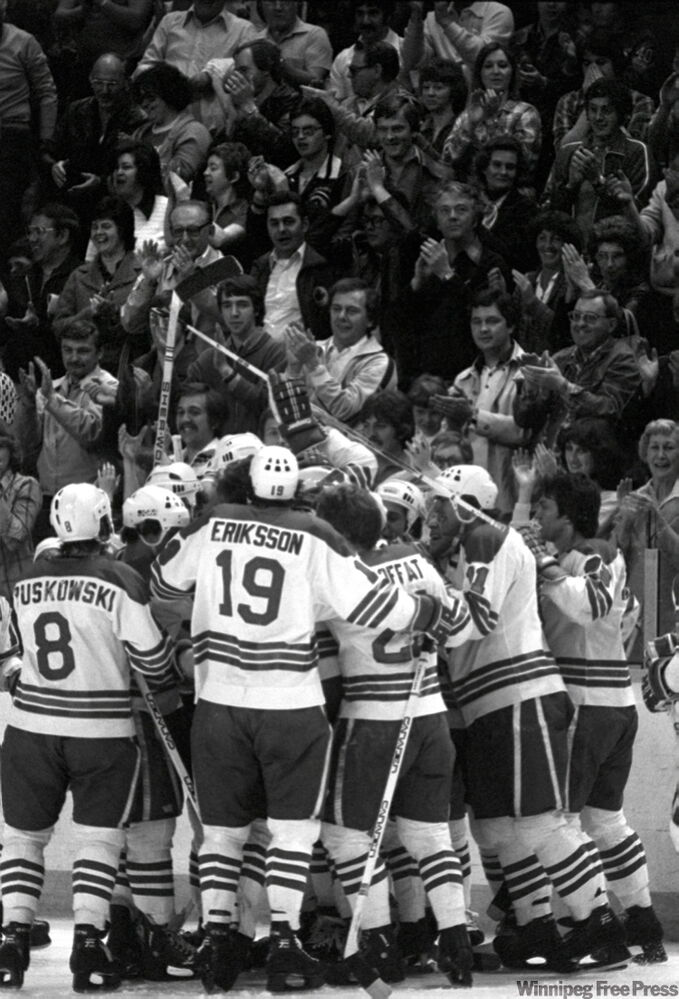 Jets celebrate third Avco Cup victory.