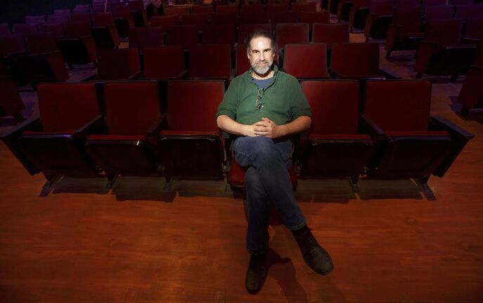 MIKE DEAL / WINNIPEG FREE PRESS</p><p>Author Andrew Davidson in the former Ellice Theatre, now the Gargoyle, which he hopes becomes a venue for new or experimental theatre.</p>