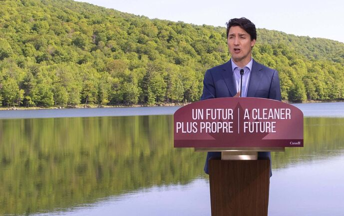 Paul Chiasson / The Canadian Press files</p><p>Prime Minister Justin Trudeau announces proposed plastics ban.</p>
