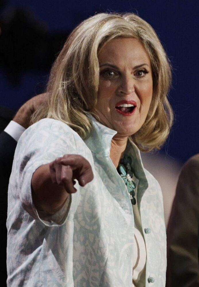 Ann Romney, wife of Republican presidential candidate Mitt Romney, stands at the podium for a sound check before the Republican National Convention in Tampa, Fla.. (AP Photo/Charlie Neibergall)
