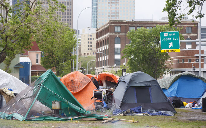 The city took responsibility for evicting the residents of the homeless encampment, which incurred the wrath of Indigenous and homeless activists. (Mike Deal / Winnipeg Free Press files)