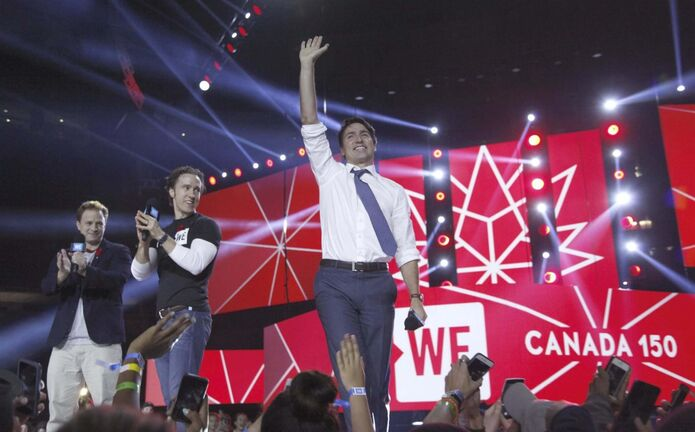 Prime Minister Justin Trudeau at WE Day Ottawa in 2016. (Marketwired Photo / WE Day files)