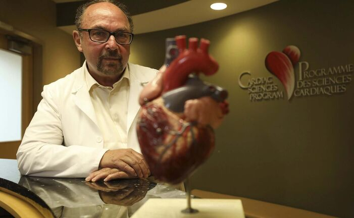 Dr. Ross Feldman said his program's goal is to get the wait time for a non-urgent echocardiogram down to around 12-13 weeks -- similar to the Manitoba wait for ultrasounds. (Ruth Bonneville / Winnipeg Free Press)</p>