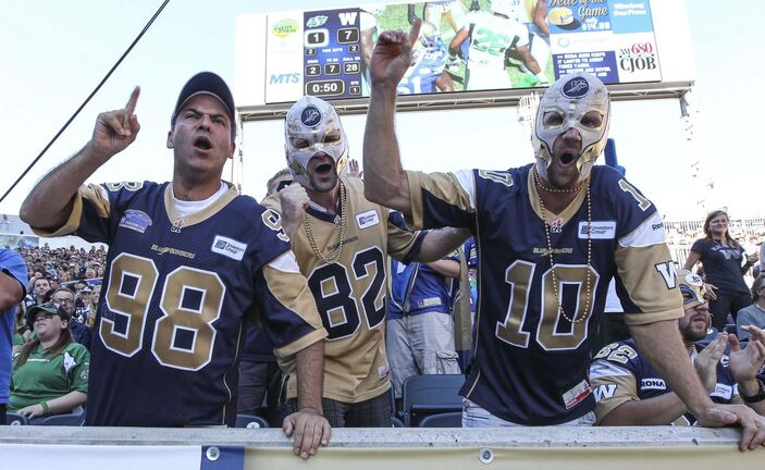 MIKE DEAL / WINNIPEG FREE PRESS files</p><p>Now that some restrictions have been lifted, Winnipeg Blue Bombers fans are expected to be out in full force for the Grey Cup Champions' season-opening tilt against the Hamilton Tiger-Cats, Aug. 5, at IG Field.</p>