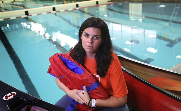 Swimming program director Rishona Hyman</p>