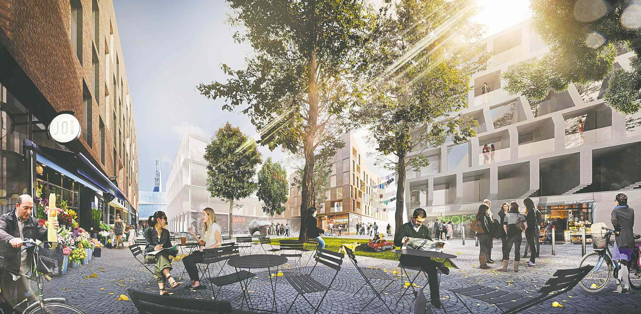An artist's rendering of the proposed development of The Forks' Railside lands in the heart of Winnipeg. (Submitted image)