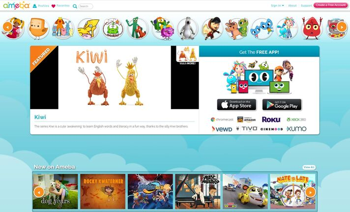 Aimed at children, Ameba TV includes shows such as Yu-Gi-Oh! and BoBoiBoy.</p>