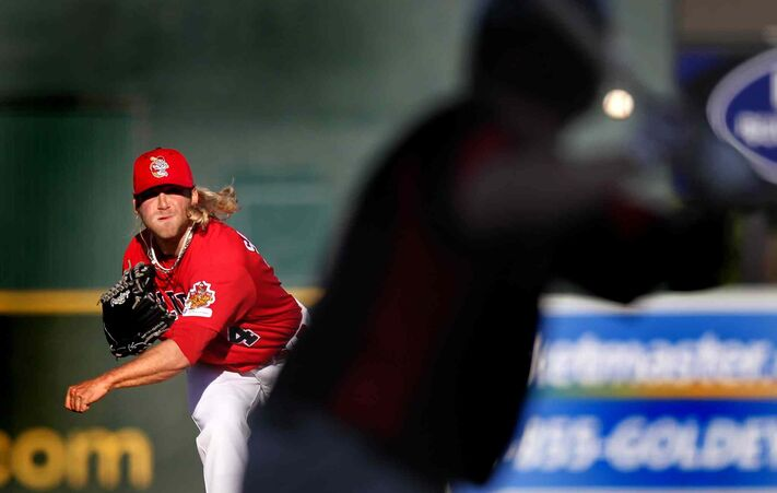 Winnipeg Goldeyes pitcher Chris Salamida should be a mainstay on the staff this summer. He'll be throwing to Luis Ale, arguably the nest catcher in indie ball.
