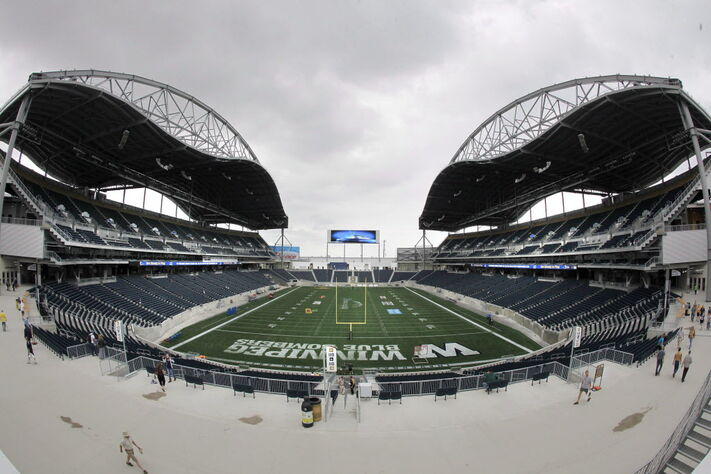 Investors Group Field, which opened in June 2013, has extensive problems, including with its drainage and concrete.