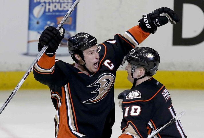 Ducks Captain Ryan Getzlaf and linemate Corey Perry accounted for three of Anaheim's goals Thursday night.