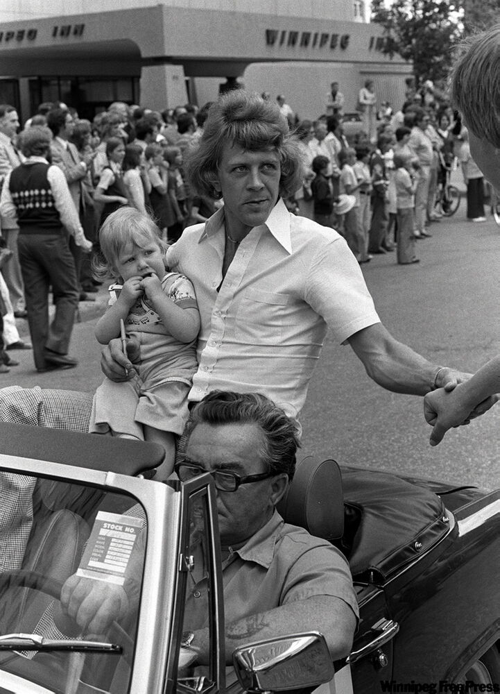 Willie Lindstrom was in the first Avco Cup parade on Portage Avenue on May 5, 1976.