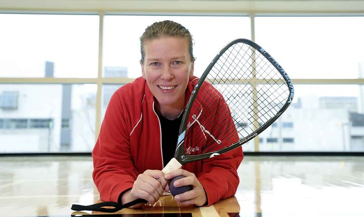 Racquetball great Jen Saunders.