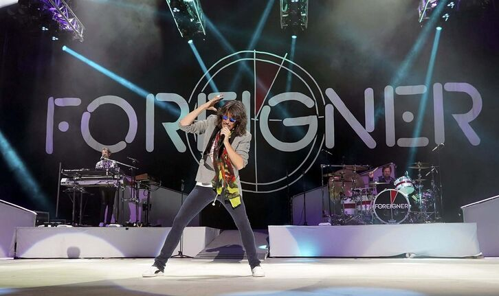 Vocalist Kelly Hansen will be front and centre when Foreigner takes the stage at the Bell MTS Place Saturday night.