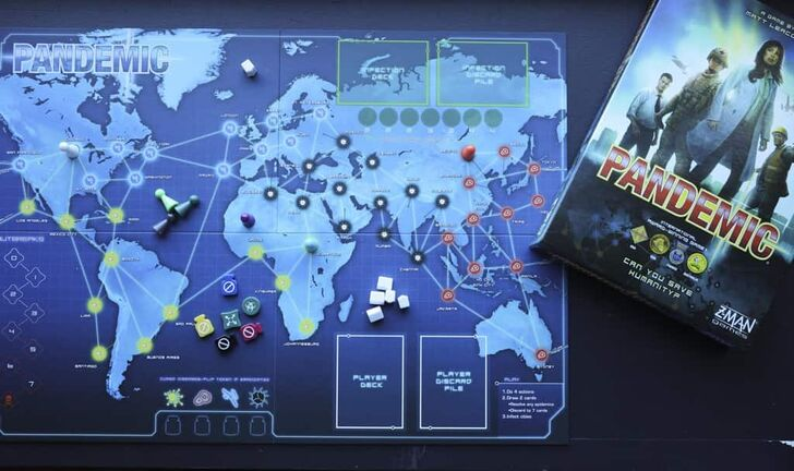 The Pandemic board game was created by Matt Leacock, published by Z-Man Games. Players work together to stop the spread of an infectious disease around the globe. (Abel Uribe/Chicago Tribune/TNS)