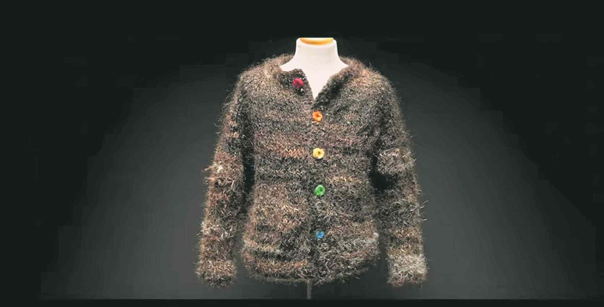 The Gay Sweater is woven from the hair of gay and transgender people.
